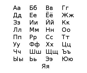 Playful image within russian alphabet printable